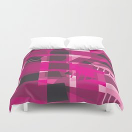 DEEP PINK Abstract Art Duvet Cover