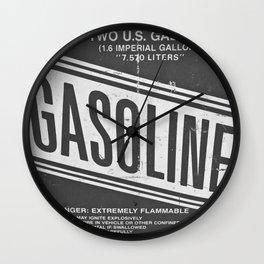 Vintage Gasoline B & W Wall Clock