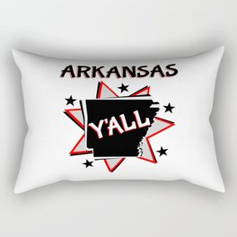 Arkansas State Y'all Rectangular Pillow