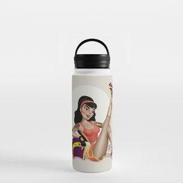 M&m Designs - Rollergirl Pin-up Water Bottle