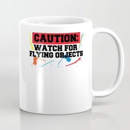 Caution Watch For Flying Objects Color Guard Marching Band Coffee Mug