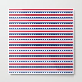 Patriotic Pattern | United States Of America USA Metal Print