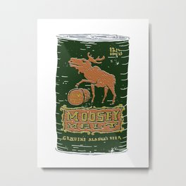 Moosey Malt Metal Print