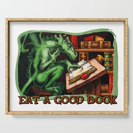 Eat a Good Book Serving Tray
