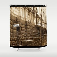 melbourne Shower Curtains featuring Collins St, Melbourne, Australia by SwanniePhotoArt