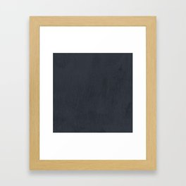 Textured Navy Framed Art Print