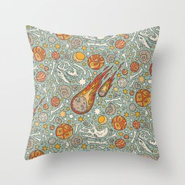 The Asteroid & the Omega Throw Pillow