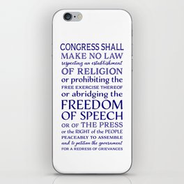 Defend Your Freedom of Speech iPhone Skin