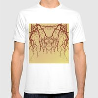 branches#07 MEDIUM White Mens Fitted Tee