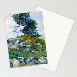 12,000pixel-500dpi - Vincent van Gogh - The Rocks, Rocks With Oak Tree - Digital Remastered Edition Stationery Cards