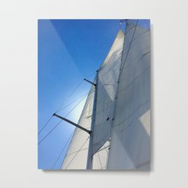 Sailboat masts with blue sky - minimalist photography   Annapolis, MD Metal Print