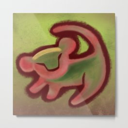 XMAS Grunge Simba Tree Art Metal Print