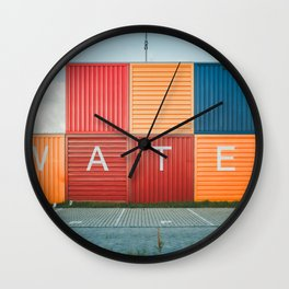 Amsterdam Noord Containers Wall Clock