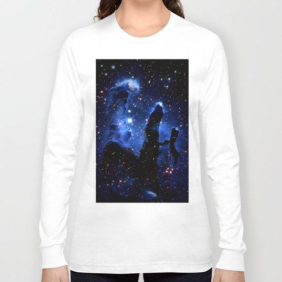 gaLAXY Blue Pillars of Creation Long Sleeve T-shirt