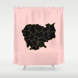 Cambodia map Shower Curtain