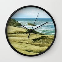 west coast Wall Clocks featuring West Coast by BRITADESIGNS