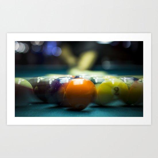 Billiards  Art Print