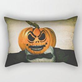 Evil Pumpkin Man Rectangular Pillow