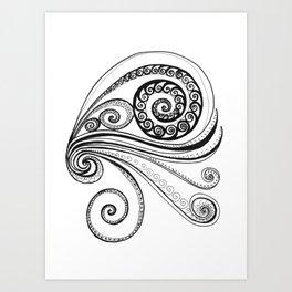 Sea Spiral Art Print