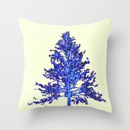 BLUE MOUNTAIN TREE ART Throw Pillow