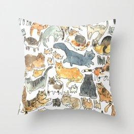 cats !!! Throw Pillow