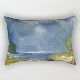 """George Wesley Bellows """"The Coming Storm"""" Rectangular Pillow"""