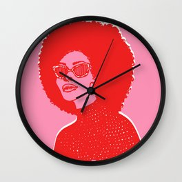 Kara Pink Wall Clock