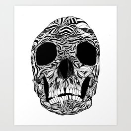 The Carved Skull Art Print