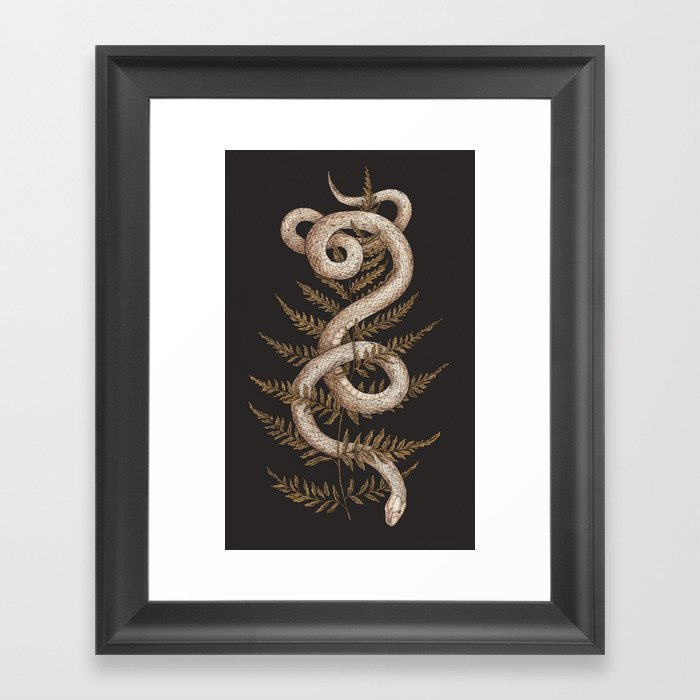 The Snake and Fern Gerahmter Kunstdruck