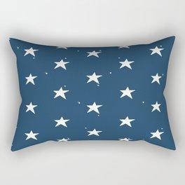 Lazy Stars (Aegean Blue/Warm White) Rectangular Pillow