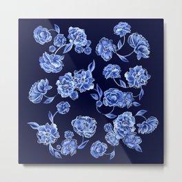 Porcelain Floral Metal Print
