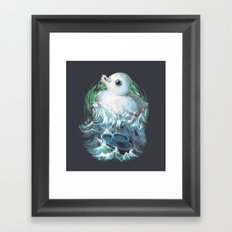 Moby Duck Framed Art Print