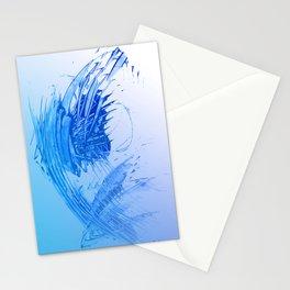 Aqua Sky Blue Freshness Stationery Cards