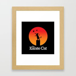 The Karate Cat Framed Art Print