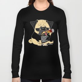 Pug Ready for a Pringle Long Sleeve T-shirt