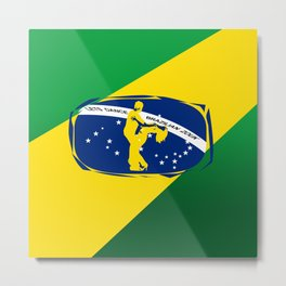 lets dance brazilian zouk flag design Metal Print