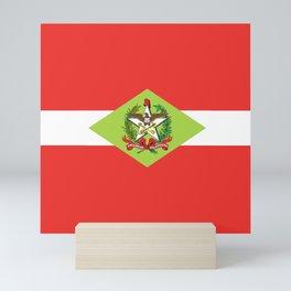 flag of santa catarina Mini Art Print