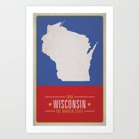 wisconsin Art Prints featuring WISCONSIN by Matthew Justin Rupp