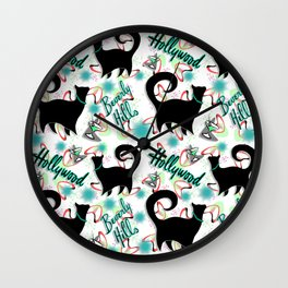 Another Purrrfect Toast! Wall Clock