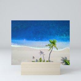 Exotic Tropical Island Beach Palm Mini Art Print