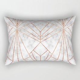 Art Deco Marble & Copper - Large Scale Rectangular Pillow