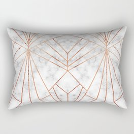 Art Deco Marble & Copper - Large Scale Rectangular Pillow