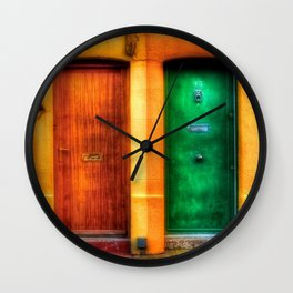 Double Entrance Dublin, Ireland Doorway Photograph Wall Clock