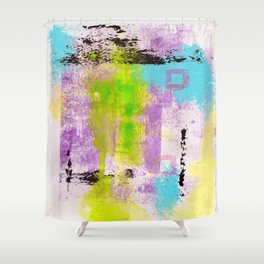 Abstract Life Shower Curtain