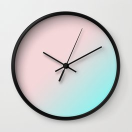 Simply Pink & Teal Color Gradient - Mix And Match With Simplicity of Life Wall Clock
