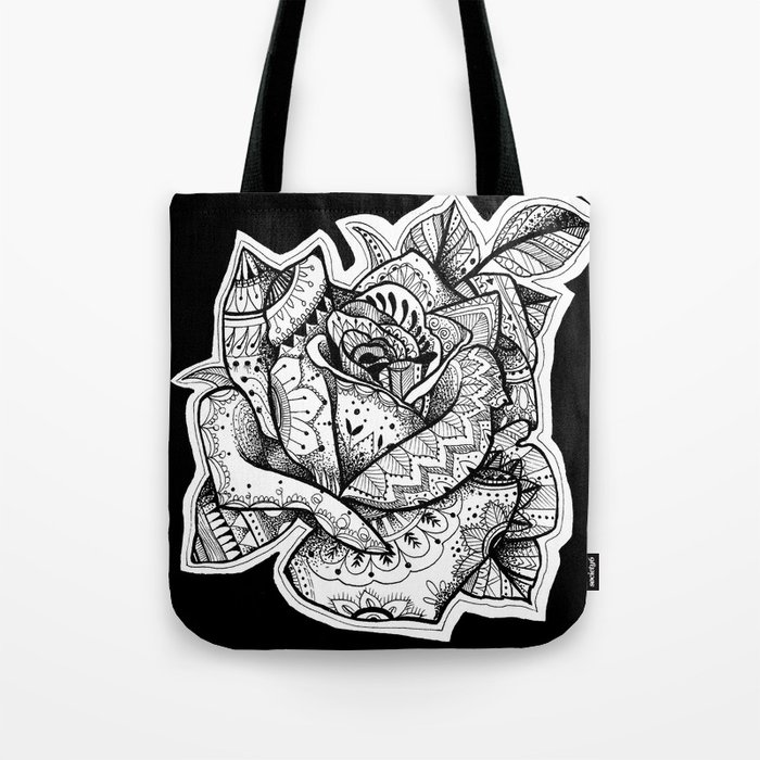 Henna Rose Tattoo Tote Bag By Robinelizabethart Society6