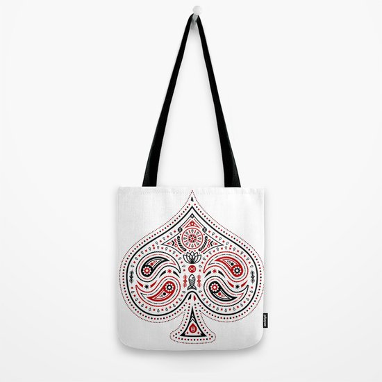 83 Drops - Spades (Red & Black) Tote Bag