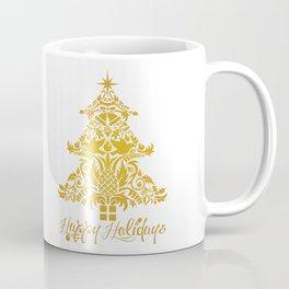 Ornate Pineapple Holiday Tree Coffee Mug
