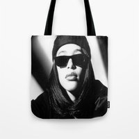aaliyah Tote Bags featuring Aaliyah by Luxe Glam Decor