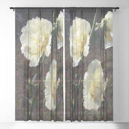 Hollyhocks Sheer Curtain